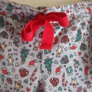 Christmas PJ's Set NWT Grey Top M